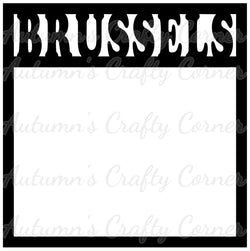 Brussels - Scrapbook Page Overlay Die Cut - Choose a Color