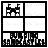 Building Sandcastles -4 Frames - Scrapbook Page Overlay Die Cut - Choose a Color
