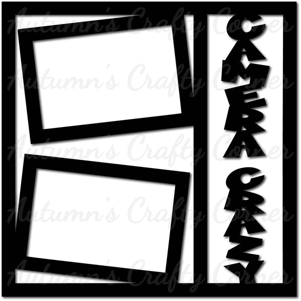 Camera Crazy - Scrapbook Page Overlay Die Cut - Choose a Color