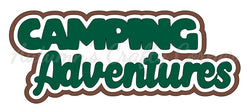 Camping Adventures - Deluxe Scrapbook Page Title