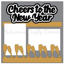 Cheers to the New Year - Single Scrapbook Page Kit