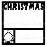 Christmas - Scrapbook Page Overlay - Choose a Color