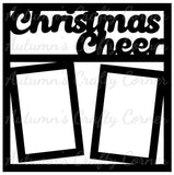 Christmas Cheer - 2 Vertical Frames - Scrapbook Page Overlay Die Cut - Choose a Color