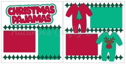 Christmas Pajamas - Scrapbook Page Kit