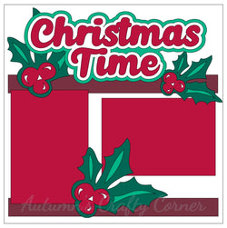 Christmas Time - Single Scrapbook Page Kit