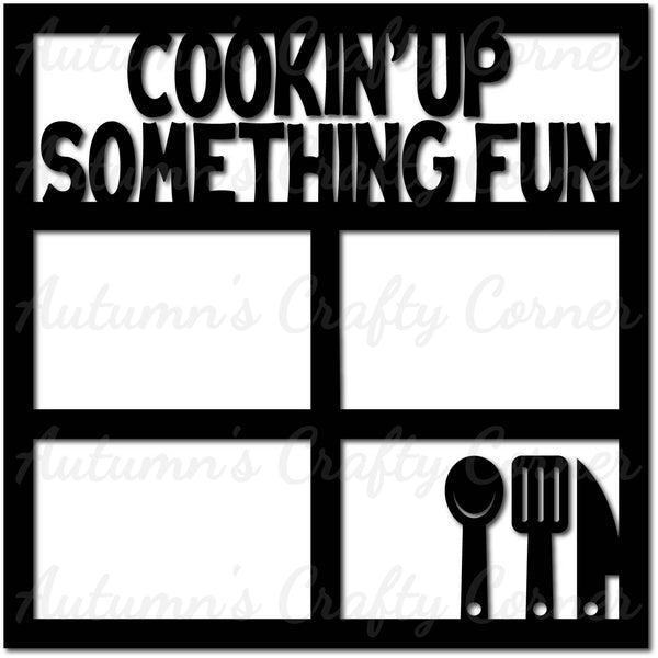 Cookin' Up Something Fun - Scrapbook Page Overlay Die Cut - Choose a Color