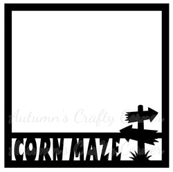 Corn Maze - Scrapbook Page Overlay Die Cut - Choose a Color