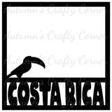 Costa Rica  - Scrapbook Page Overlay Die Cut - Choose a Color