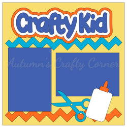 Crafty Kid - Single Scrapbook Page Kit