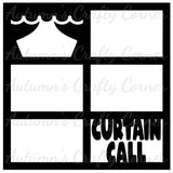 Curtain Call - 6 Frames - Scrapbook Page Overlay Die Cut - Choose a Color
