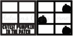 Cutest Pumpkin in the Patch - Scrapbook Page Overlay Set - Choose a Color