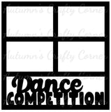 Dance Competition - 4 Frames - Scrapbook Page Overlay Die Cut - Choose a Color