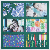 Day in Paradise - 6 Frames - Scrapbook Page Overlay Die Cut - Choose a Color