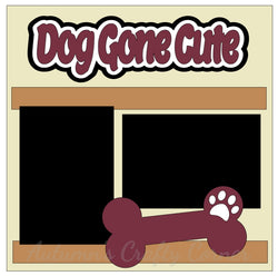 Dog Gone Cute - Single Scrapbook Page Kit