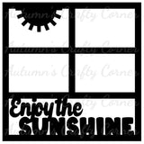 Enjoy the Sunshine - 4 Frames  - Scrapbook Page Overlay Die Cut - Choose a Color