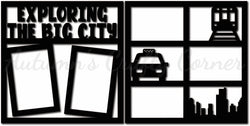 Exploring the Big City - Scrapbook Page Overlay Set - Choose a Color