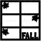 Fall - Scrapbook Page Overlay Die Cut - Choose a Color