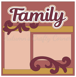 Family - Single Scrapbook Page Kit