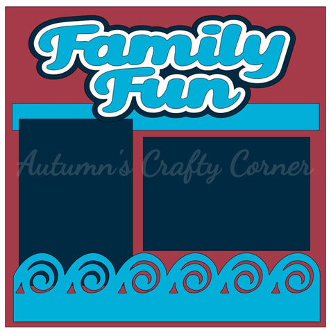 Family Fun - Single Scrapbook Page Kit