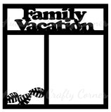 Family Vacation - Scrapbook Page Overlay - Choose a Color