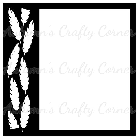 Feathers - Scrapbook Page Overlay