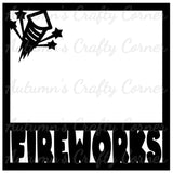 Fireworks - Scrapbook Page Overlay Die Cut - Choose a Color