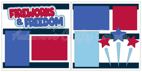 Fireworks & Freedom - 4th of July - Scrapbook Page Kit