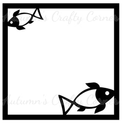 Fish - Scrapbook Page Overlay Die Cut - Choose a Color