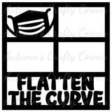 Flatten the Curve - 4 Frames - Scrapbook Page Overlay Die Cut - Choose a Color