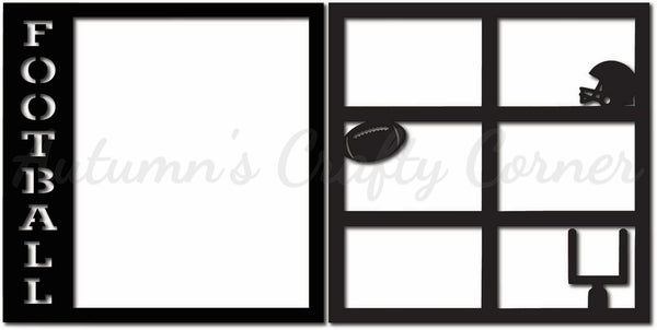 Football - Scrapbook Page Overlay Set - Choose a Color