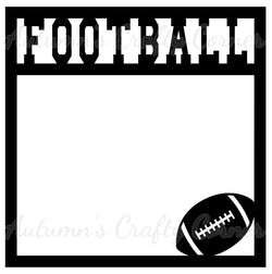 Football - Scrapbook Page Overlay Die Cut - Choose a Color