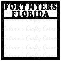 Fort Myers Florida - Scrapbook Page Overlay Die Cut - Choose a Color