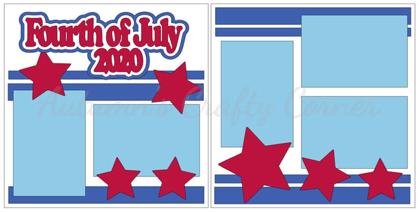 Fourth of July 2020  - Scrapbook Page Kit