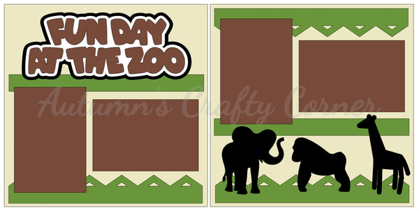 Fun Day at the Zoo - Scrapbook Page Kit