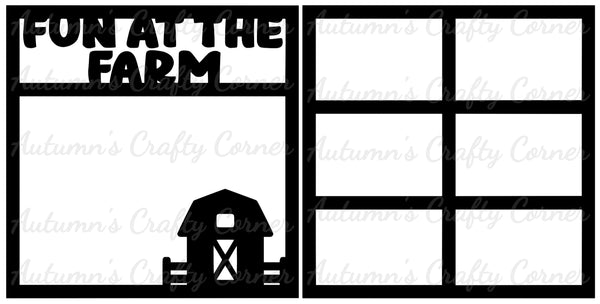 Fun at the Farm - Scrapbook Page Overlay Set - Choose a Color