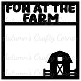 Fun on the Farm  - Scrapbook Page Overlay Die Cut - Choose a Color