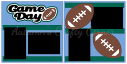 Game Day - Football - Scrapbook Page Kit