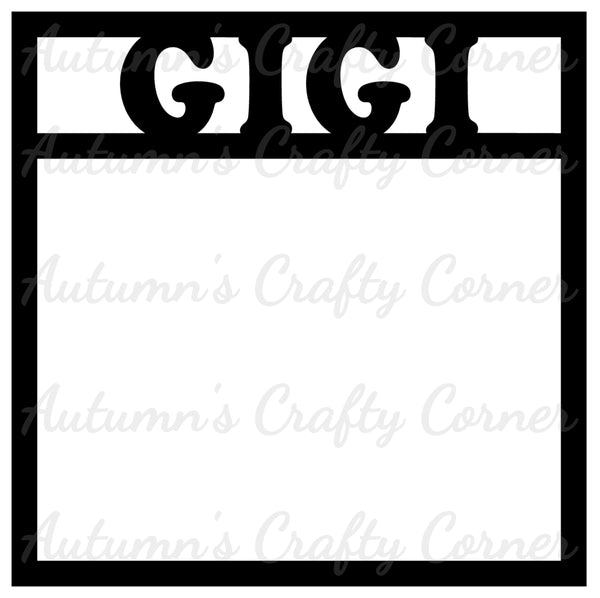 Gigi - Scrapbook Page Overlay Die Cut - Choose a Color