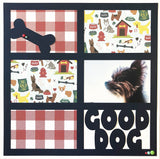 Good Dog - 6 Frames - Scrapbook Page Overlay Die Cut - Choose a Color
