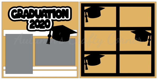 Graduation 2020  - Scrapbook Page Kit