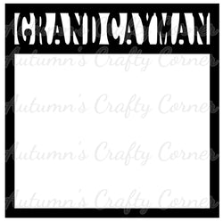 Grand Cayman - Scrapbook Page Overlay Die Cut - Choose a Color