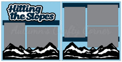 Hitting the Slopes - Scrapbook Page Kit