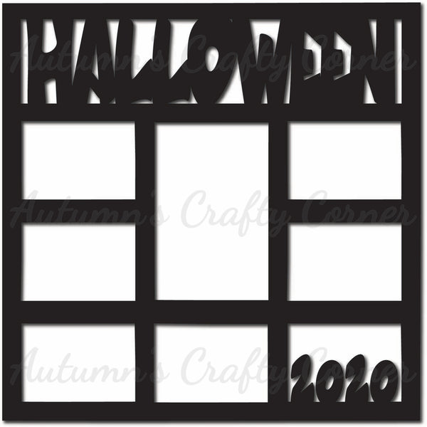 Halloween 2020 - 8 Frames - Scrapbook Page Overlay Die Cut - Choose a Color