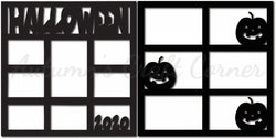 Halloween 2020 - Scrapbook Page Overlay Set - Choose a Color