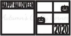 Happy Halloween 2020 - Scrapbook Page Overlay Set - Choose a Color