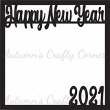 Happy New Year 2021 - Scrapbook Page Overlay Die Cut - Choose a Color