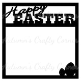 Happy Easter - Scrapbook Page Overlay - Choose a Color