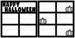 Happy Halloween - Scrapbook Page Overlay Set - Choose a Color