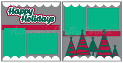 Happy Holidays - Christmas - Scrapbook Page Kit