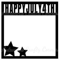 Happy July 4th - Scrapbook Page Overlay - Choose a Color
